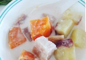 Asian sweet potato coconut dessert