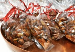 Maple nuts in gift bags