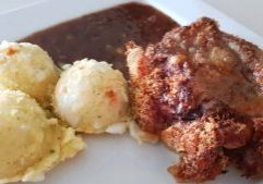 chic karage & mashed potatoes